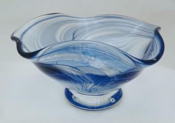 Blue flutter bowl